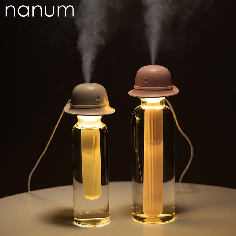 Mini LED Ice Cream Ultrasonic Hat humidifier USB Air Humidifier for Car Home Aromatherapy Essential Diffuser with Aroma Lamp Air Freshener     - title=