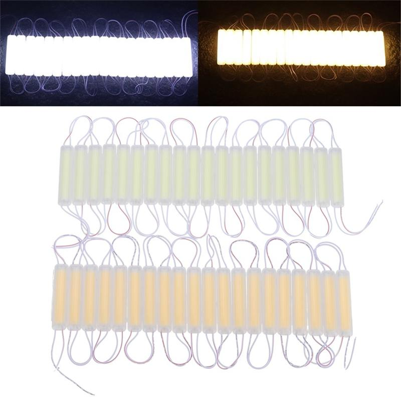 CLAITE DC12V 40W Light Bead Chip Waterproof Warm White Pure White COB LED Module Strip Light for Advertising Channel Letter