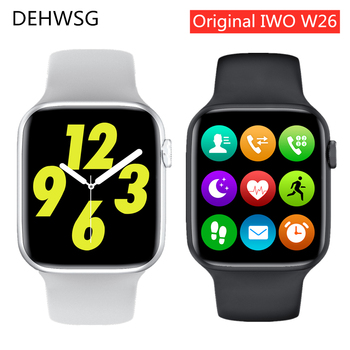 2020 IWO W26 Smart Watch Series 6 1.75 inch Full Touch Screen ECG PPG Heart Rate Monitor Bluetooth Call K8 PRO Smartwatch IWO 15 1