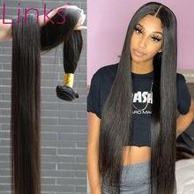 Links 8- 40 Polegada cabelo brasileiro, pacotes de trançados 1/3/4 cor natural 28 30 32 34 extensões de cabelo remy Polegada pacotes