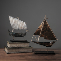 American Retro Wrought Iron Sailing Ornaments Living Room Wine Cabinet Shop Decorations Crafts
