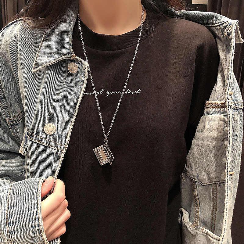 Punk Metal klasik kolye erkek Retro batı gotik İncil/çapraz kolye titanyum çelik zincir kadınlar takı 2020 yeni