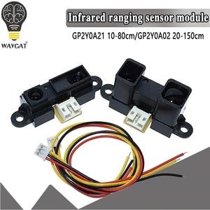 GP2Y0A21YK0F GP2Y0A02YK0F Инфракрасный датчик приближения ИК-аналоговый датчик расстояния VE713 10-80 см 20-150 см инфракрасный датчик расстояния