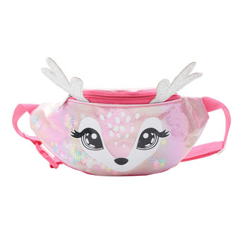 2020 Cute elk Female Waist Bag Kids Fanny Pack Cartoon Women Belt Bag Fashion Travel Phone Pouch Chest Bag Messenger Bags - Hot Pink, United States