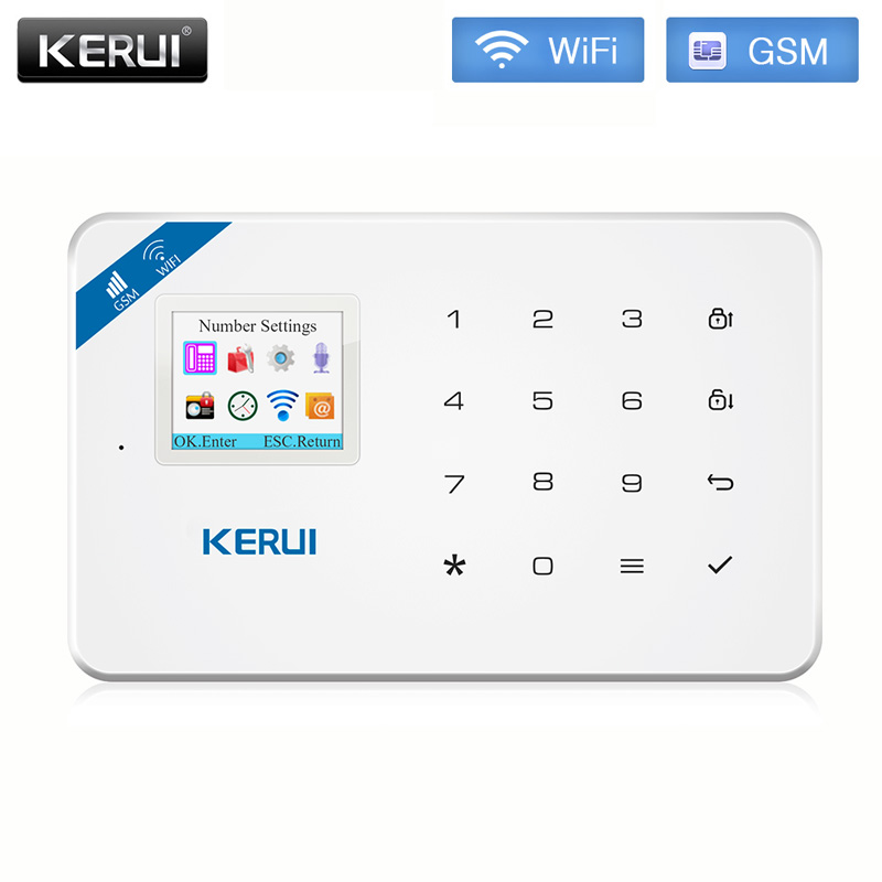 KERUI W18 WIFI GSM Arm Alarm System TFT Color Screen Home Safety Call Push APP Remote Control Wireless Anti-pet PIR Sensor Alarm