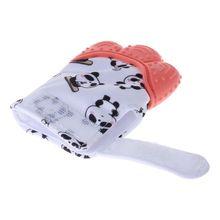 Baby Teether Gloves Panda Cute Cartoon Convex Silicone BPA Free Chew Oral Care A