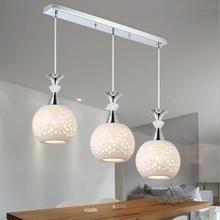 Современный простой Ресторан люстра E27 лампы светодиодные лампы один/три люстры освещение гостиная led блеск droplight огни