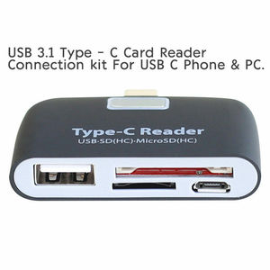 Image 3 - OTG Card Reader Multifunction Memory Card Adapter USB 3.1 Type C USB C TF for MAC book Phone Tablet Cards Readers