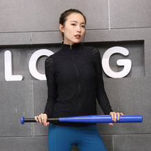 2019 new autumn and wter yoga clothg tight hollow breathable coat runng fitness