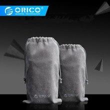 ORICO Телефон хранения бархатный мешок хранения для USB зарядное устройство/USB кабель/power Bank/телефон и многое другое серый цвет
