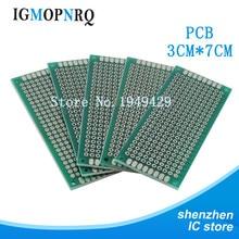 5pcs Double Side Prototype PCB 3*7CM diy Universal Printed Circuit Board 3x7cm
