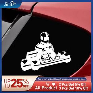 Lovely Karting Car Sticker Vinyl Car Stickers Cool Car Window Decor Hot Selling