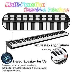 Image 2 - 88鍵ピアノポータブルデジタル電子コントローラピアノの鍵盤タッチ敏感ミディ/usb電気ピアノとキャリーバッグ