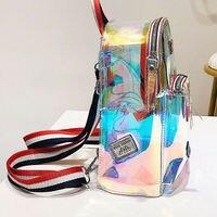 Mode UK Klar PVC Transparent Sehen Durch Mini Rucksack Nette Schule Buch Tasche-in Rucksäcke aus Gepäck & Taschen bei