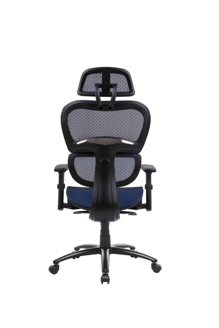 Two Colors Ergonomic Office Chair Mesh Chair Computer Chair Desk Chair High Back Chair with Adjustable Headrest and Armrest-blue 5