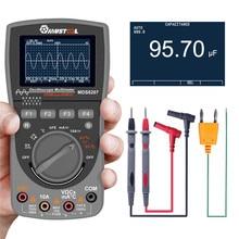 משודרג MDS8207 אינטליגנטי 2 ב 1 דיגיטלי אחסון Scopemeter מודד 40MHz 200Msps/S אחד מפתח אוטומטי אוסצילוסקופ tester