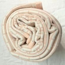 Nova primavera outono marca de moda crianças carta estilo cobertores do bebê duplo jacquard ar condicionado malha algodão menino menina cobertor