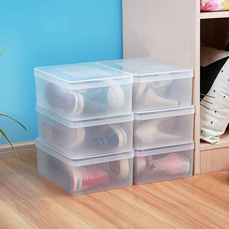 Multifunction Transparent Shoes Box Stackable Fruit Vegetable Storage Organizer Container Home Kitchen Supplies