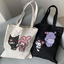 Y2k estético kawaii coelho impressão vogue bolsa feminina grande-capacidade de lona ins faculdade harajuku verão feminino ulzzang sacos de ombro