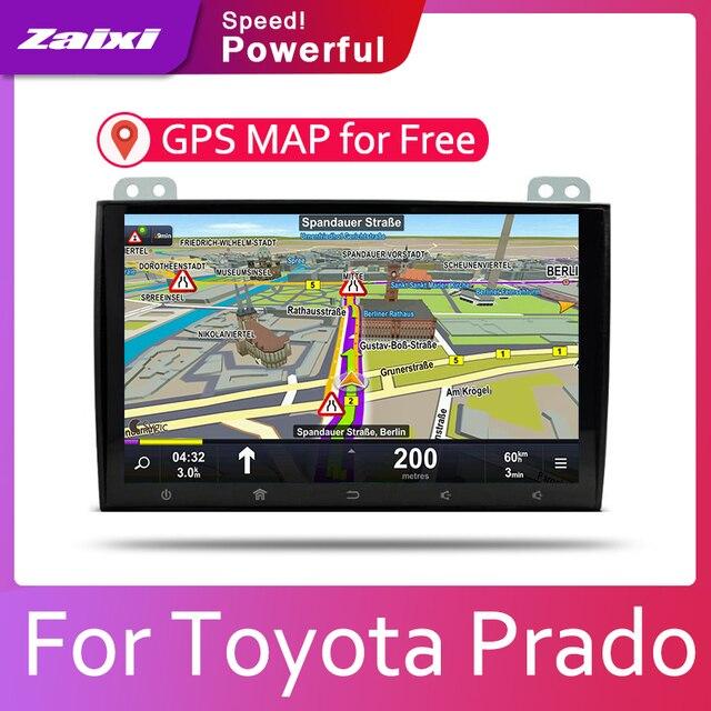 ZaiXi Auto Android System 1080P IPS LCD Screen Für Toyota Prado 120 2002 ~ 2009 Auto-Radio-Player GPS navigation BT WiFi AUX