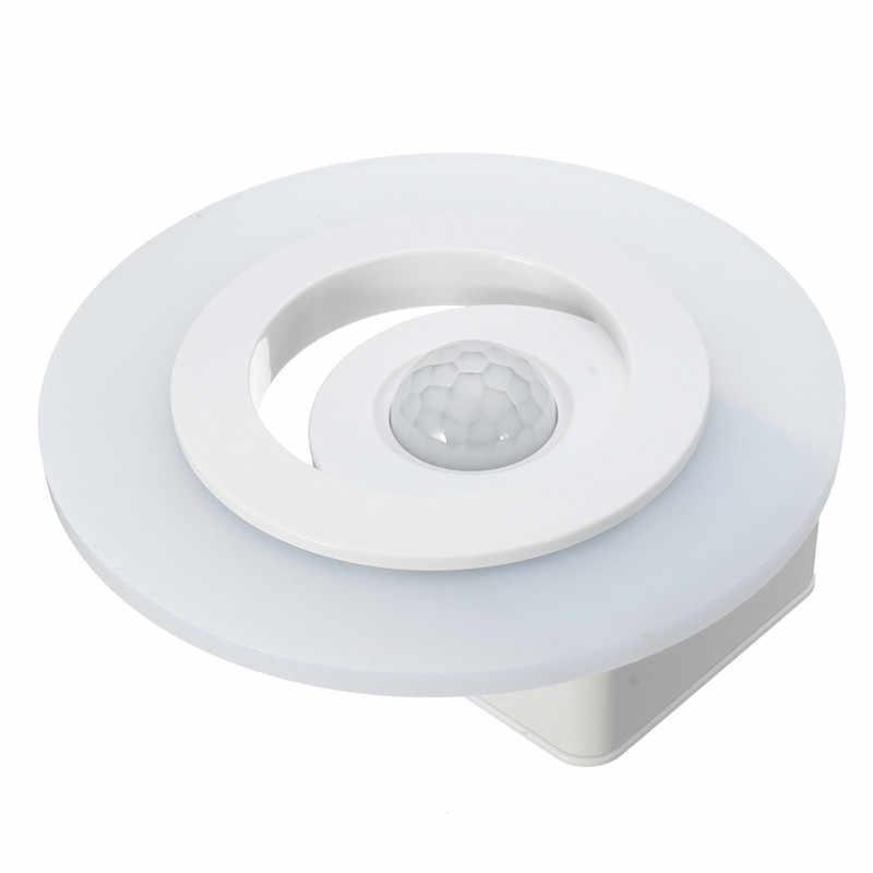 360 градусов беспроводной настенный светильник ИК датчик движения светодиодный ночник на батарейках светильник ing для кухонных шкафов белого цвета