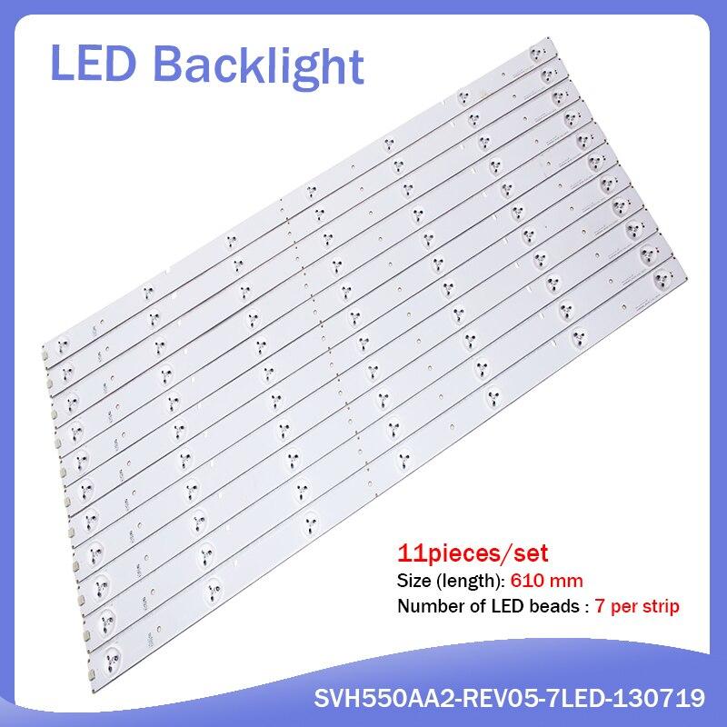 1set=11pcs 100% New For Hisense LED55K20JD LED55EC290N LED55EC280JD 55K220 Model SVH550AA2-REV05-7LED/SVH550AB1-6LED-REVO