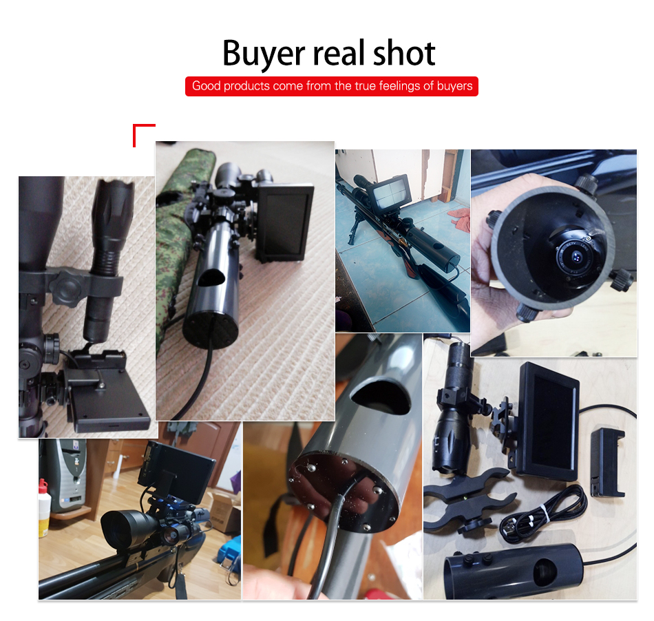 Military Night Vision Scope Waterproof Cameras A 850nm IR Torch