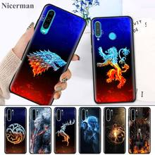 Silicone Case for Huawei Y5 Y6 Y7 Y9 2018 Y5 Y6 Y7 Y9 2019 Nova 5i 5 5iPro 5T Back Shell Fundas Capa Game Of Throne House