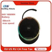 GotWay Nikola самобалансирующийся электрический скутер 84 в 1600WH 50 км/ч 2000 Вт мотор с Bluetooth динамиком одноколесном велосипеде скейт Ховерборд