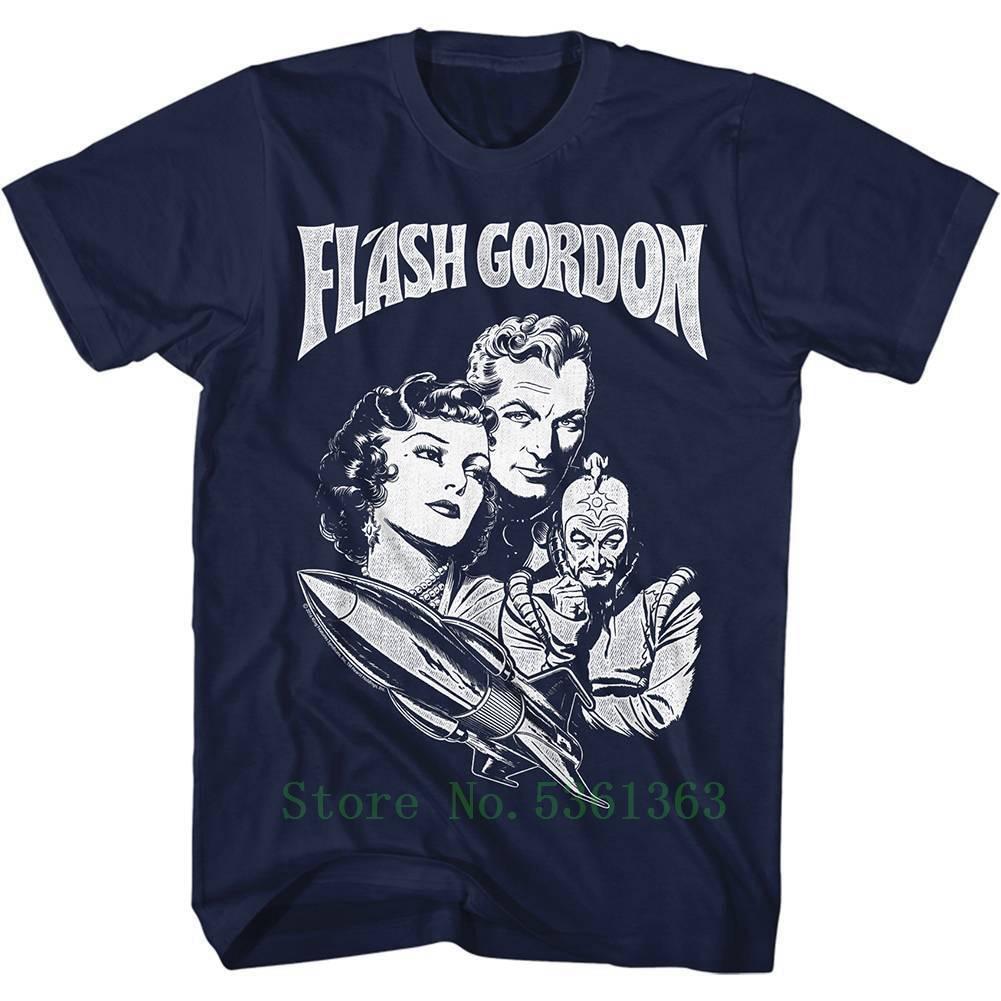 FLASH GORDON Men's short sleeve tshirt NAVY GORDON Fashion Cool pride t-shirt men casual New Unisex t shirt free shipping(China)