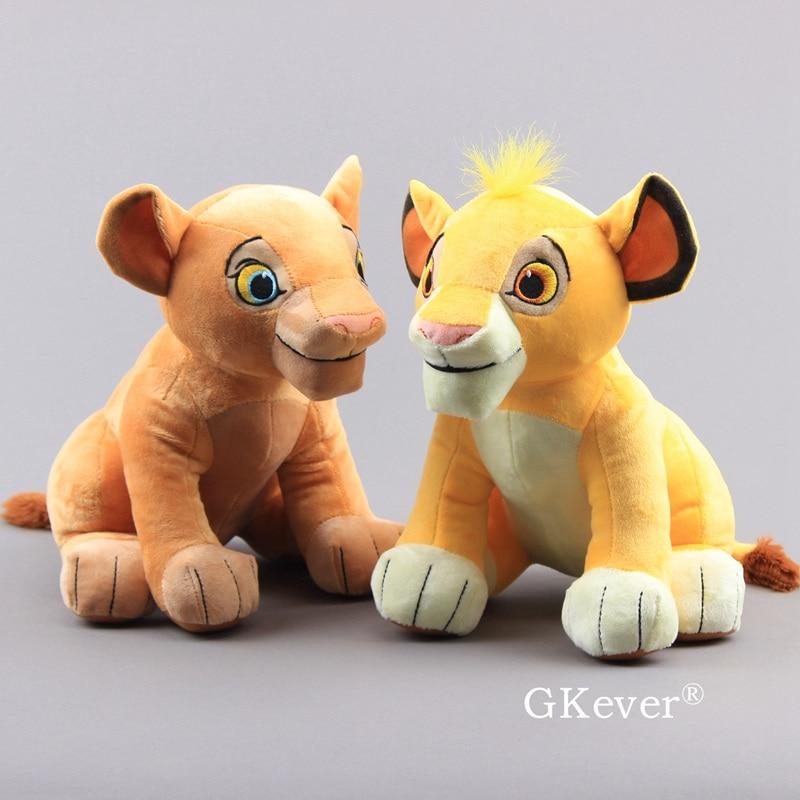 Simba Mufasa Nala Plush Doll Toys Cartoon Anime The Lion King Sitting High Simba Tiger Lion Animals Stuffed Toys Children Gift