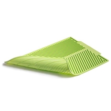 Silicone Dish Drying Mat Flume Folding Draining Mat,Rectangle Drain Mat Drying Dishes Pad Heat Resistant Non-Slip Tray silicone drain mat water coaster placemat table mat kitchen tool heat resistant non slip tray home kitchen dishwashing drain mat