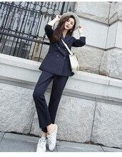 Korean Version Two Piece Office Lady Elegant Fashion Trends Female Business Women Suit
