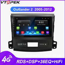 Vtotpek 9 inch Android Car Stereo 2 din Radio for Mitsubishi Outlander 2005-2012 subwoofer 4G Net WIFI Touch Screen RDS DSP