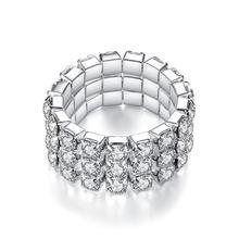 Модное популярное инкрустированное циркониевое эластичное кольцо