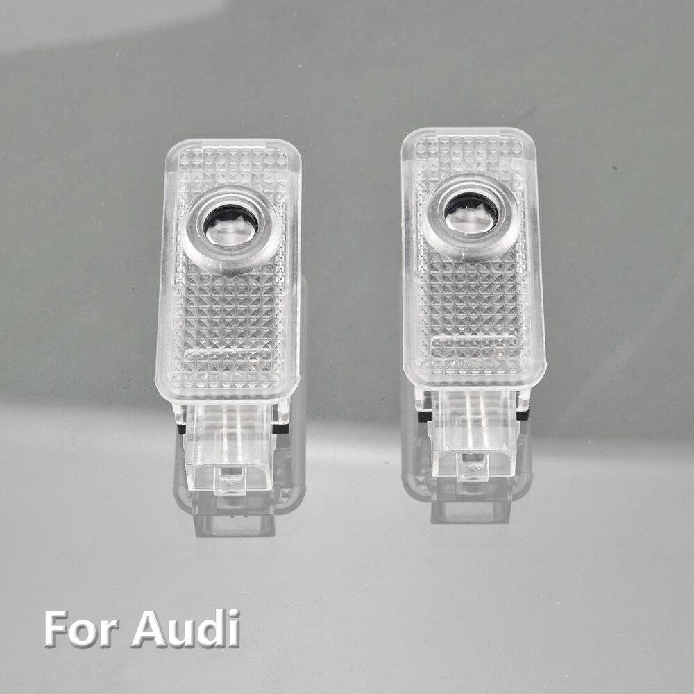 2Pcs 3D Car Door Led Laser Projector Ghost Light For Audi A1 8X A3 8V A4 B7 B8 A5 8T A6 C5 C6 C7 A7 A8 D3 D4 R8 Q3 Q5 Q7 S Line