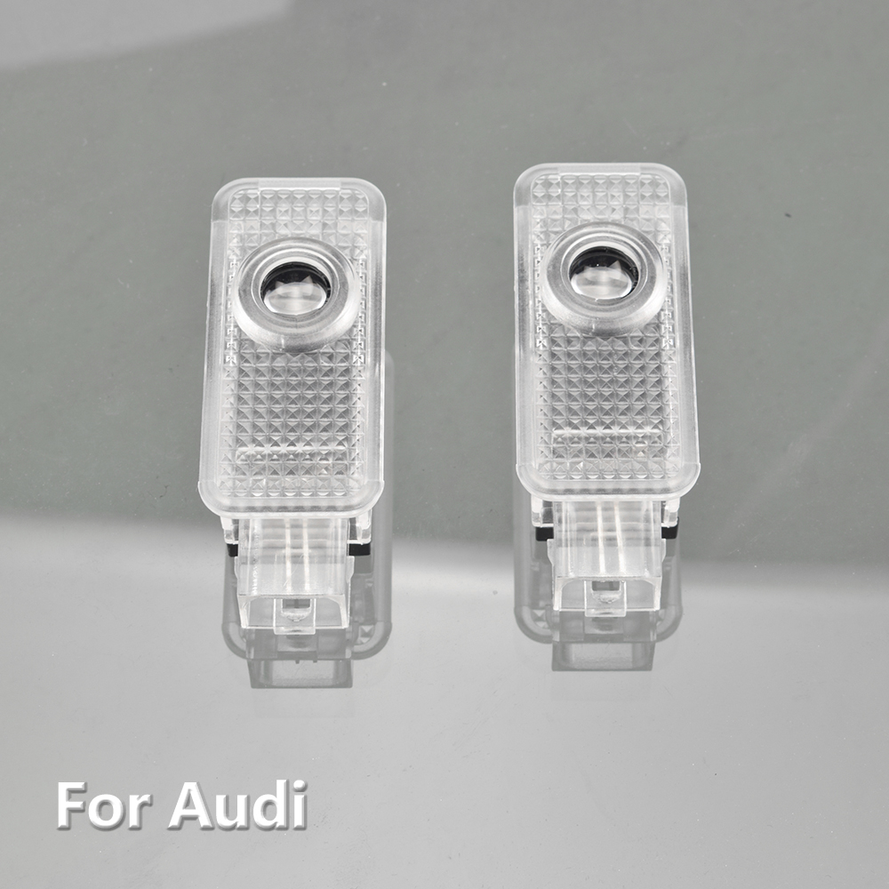 2X Car Logo Door Led Laser Projector Ghost Light For Audi A1 8X A3 8V A4 B7 B8 A5 8T A6 C5 C6 C7 A7 A8 D3 D4 R8 Q3 Q5 Q7 S Line