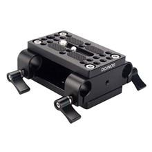 Camera Tấm Gắn Chân Máy Monopod Tấm Gắn Với 15Mm Cần Kẹp Railblock Cho Cần Hỗ Trợ Đường Sắt Máy Ảnh DSLR Rig