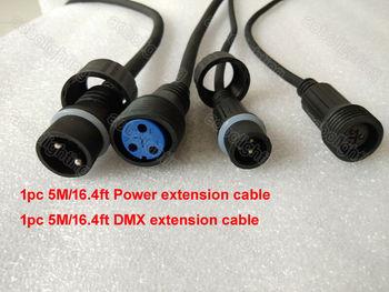 16ft/5M IP65 Waterproof led par Dj Lights DMX cable christmas outdoor decoration stage lights Power Cable