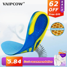 Buy VAIPCOW Silicon Gel Insoles Foot Care for Plantar Fasciitis orthopedic Massaging Shoe Inserts Shock Absorption Shoe pad Unisex directly from merchant!