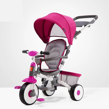 цена 2020Baby Stroller Children Tricycle Multifunction Can Sit or Lie Child Bicycle Large Basket Easy To Trave Summer онлайн в 2017 году