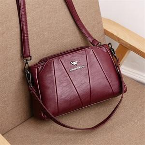 Image 3 - Crossbody Bags For Women 2019 Sac a Main Soft Leather Shoulder Messenger Bags Female Vintage Handbag High Quality Bolsa Feminina