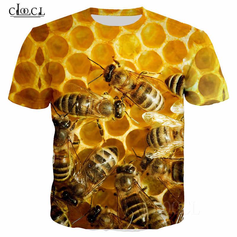 Api Degli Uomini T-Shirt Maglietta Delle Donne di Piccola Ape Miele Modello 3D Stampato T Shirt A Manica Corta Harajuku Streetwear Estate Magliette E Camicette Tee camicia