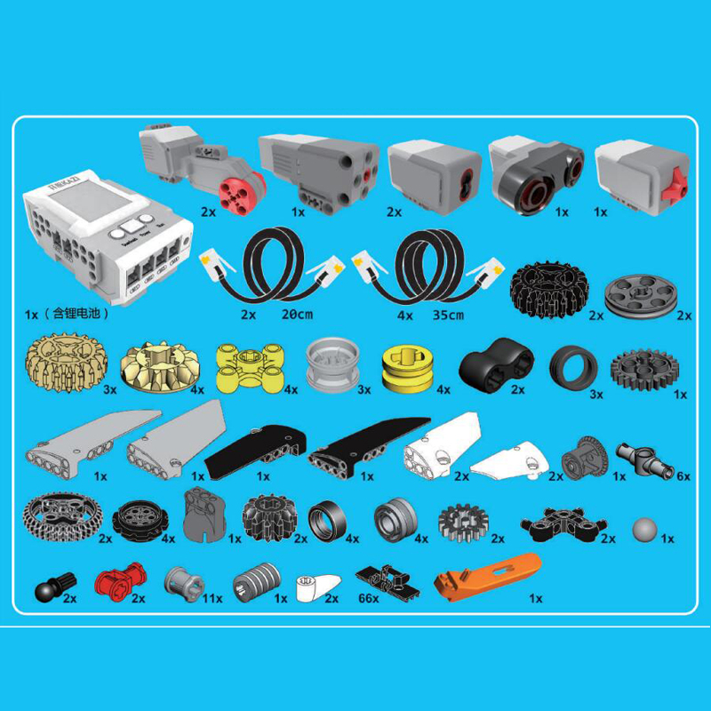 Image 5 - EV3 EV6 Compatible with 45544 Science education Building Block Robot Creative programming intelligent APP Program Toy gifsBlocks   -