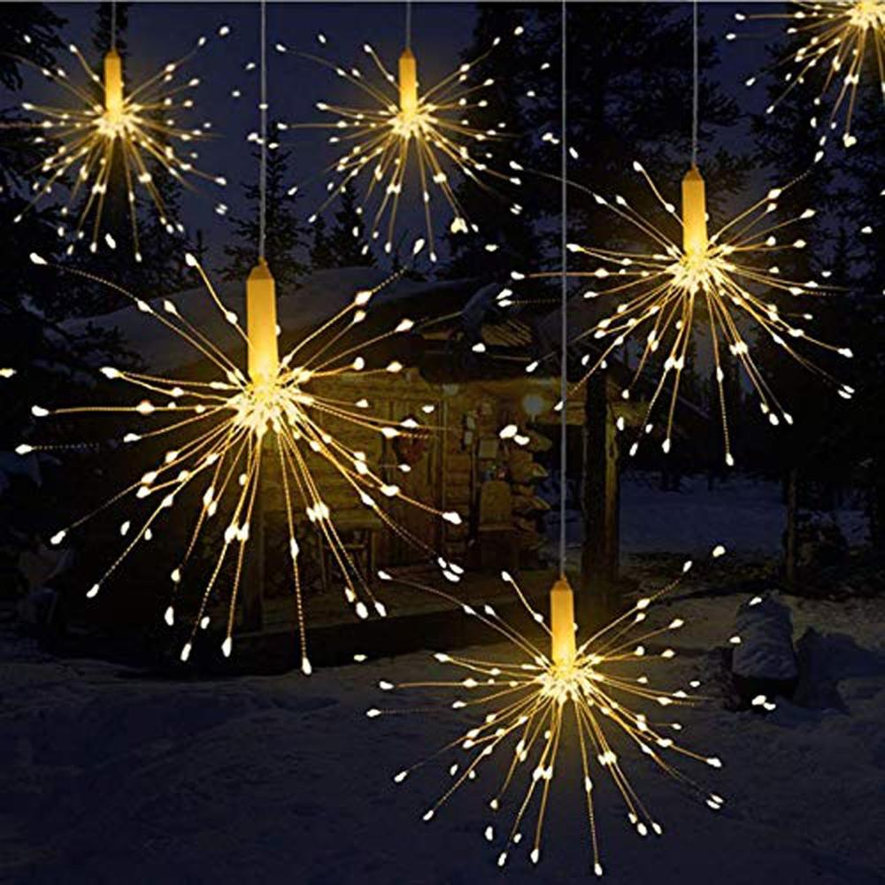 Festival Hanging Starburst String Lights 180 Leds DIY Firework Copper Fairy Garland Christmas Lights Outdoor Twinkle Light