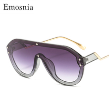 2020 New Oversized Shield Sunglasses Women One-piece Hip Hop