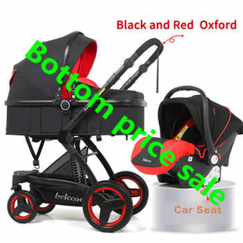 Poussette bébé 3 en 1 chariot pliant haute paysage nouveau-né bébé multifonctionnel lumière poussette avec siège auto mère Assistant