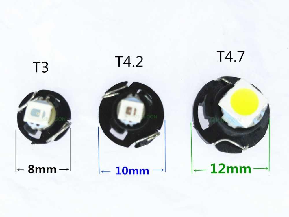 5Pcs Led Licht T3 T4.2 T4.7 Instrument Lamp T3 Led Rood T4. 2 Blauw T4.7 Led Klok Led Airconditioning Gloeilamp