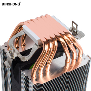 Pure copper 6 heat pipe double tower capped CPU radiator 90MM silent cooling fan 775 1155 1366 AMD3 AM4 X79 X99 2011 PC cooler