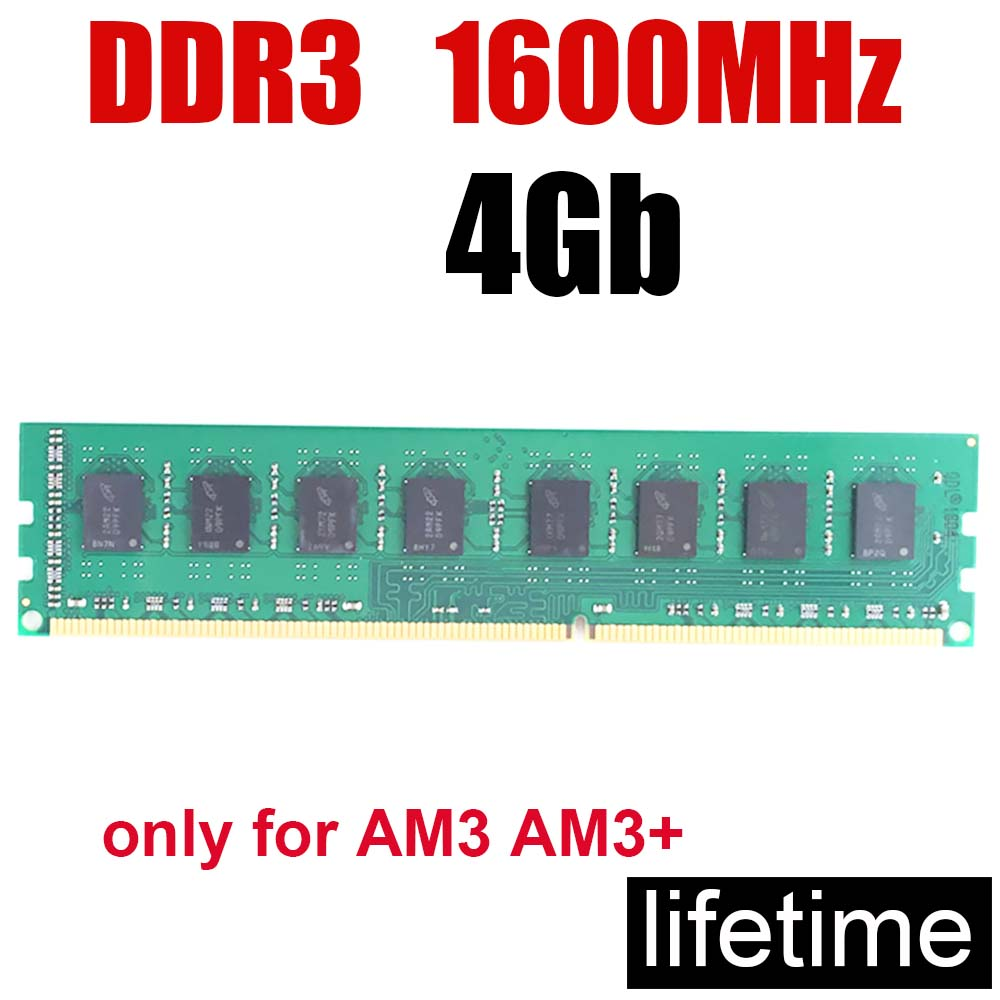4Gb DDR3 RAM memory 1600 1600MHz 4G / PC <font><b>3</b></font> <font><b>12800</b></font> 16Gb <font><b>ddr</b></font> 8gb 2gb 8G / Design Work Game all no problem / lifetime warranty image